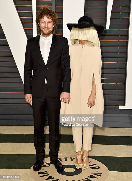 Producer Erik Anders Lang and recording artist Sia attend the 2015 Vanity Fair Oscar Party hosted by Graydon Carter at Wallis Annenberg Center for...