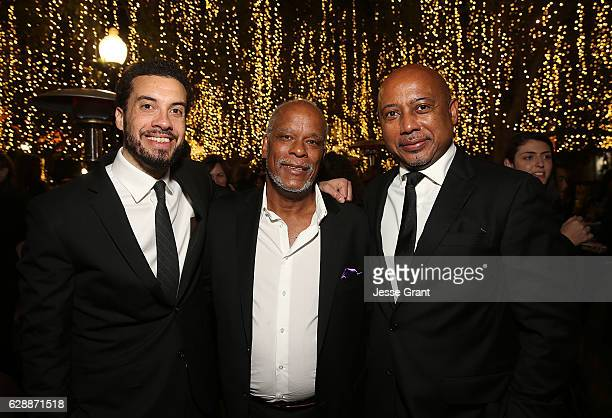 Producer Ezra Edelman director Stanley Nelson and director Raoul Peck attend the 32nd Annual IDA Documentary Awards held at Paramount Studios on...