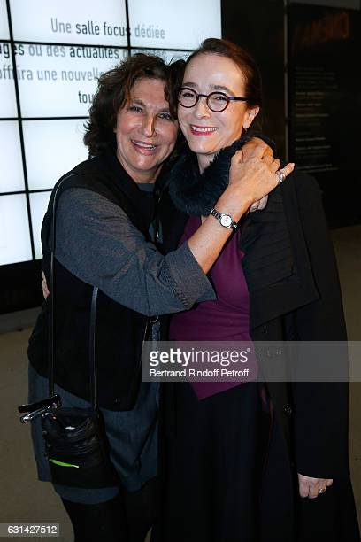 Producer Fabienne ServanSchreiber and President of France Television Delphine Ernotte attend the celebration of the 40th Anniversary of the Centre...