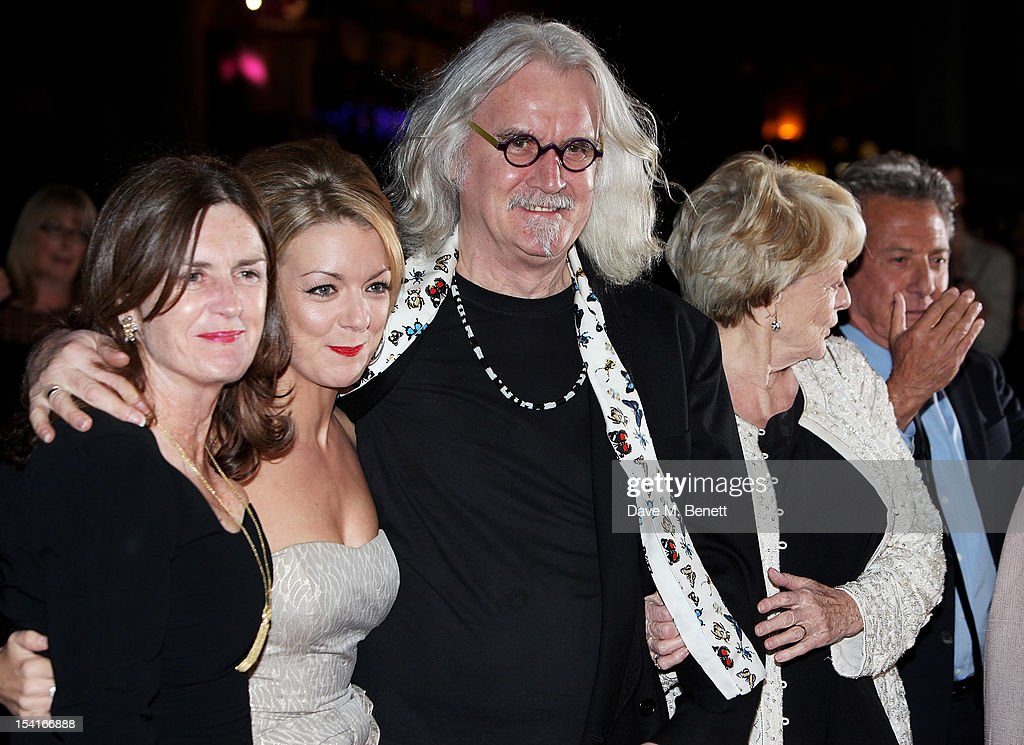 Producer Finola Dwyer, Sheridan Smith, Billy Connolly, Dame Maggie Smith and director Dustin Hoffman attend the Premiere of 'Quartet' during the 56th BFI London Film Festival at Odeon Leicester Square on October 15, 2012 in London, England.