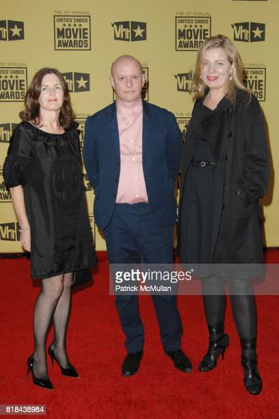Producer Finola Dwyer writer Nick Hornby and director Lone Scherfig attend 2010 Critics Choice Awards at The Palladium on January 15 2010 in...