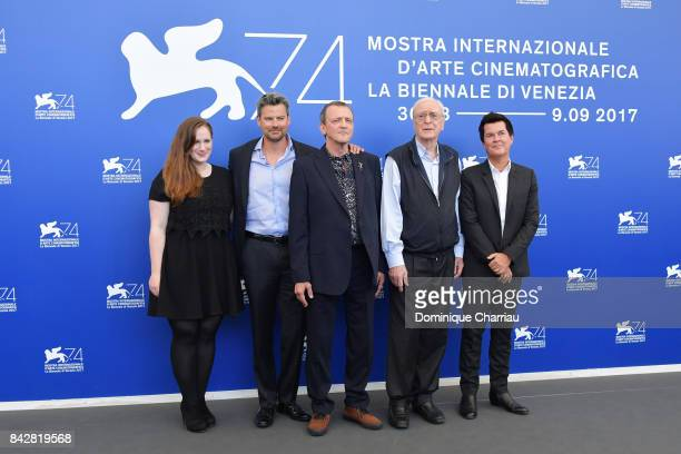 Producer Fodhla Cronin O'Reilly David Batty guest Michael Caine and producer Simon Fuller attend the 'My Generation' photocall during the 74th Venice...