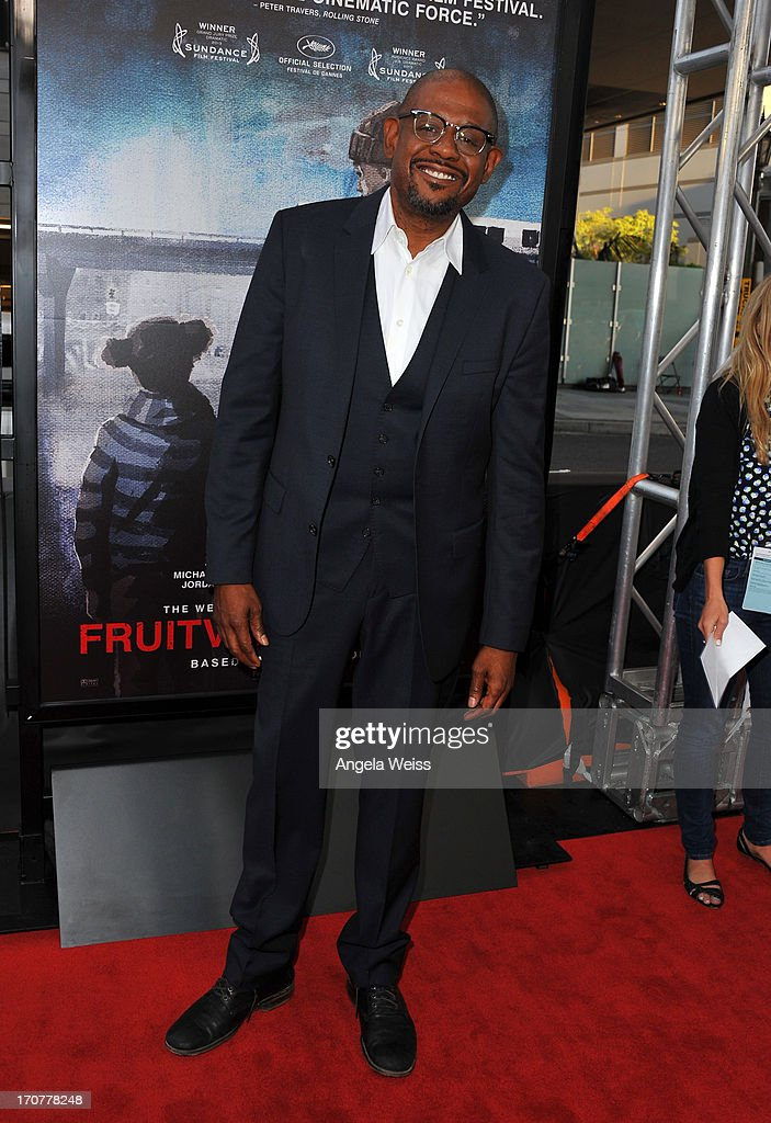 Producer <a gi-track='captionPersonalityLinkClicked' href=/galleries/search?phrase=Forest+Whitaker&family=editorial&specificpeople=226590 ng-click='$event.stopPropagation()'>Forest Whitaker</a> arrives at the premiere of The Weinstein Company's 'Fruitvale Station' during the 2013 Los Angeles Film Festival at Regal Cinemas L.A. Live on June 17, 2013 in Los Angeles, California.