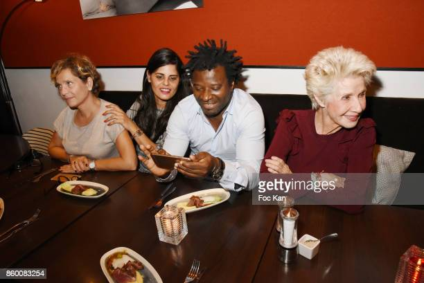 Producer Francoise Lefaure painter Lee Michel rap artist Rost former TV presenter Daniele Gilbert attend Olivier Michel Private Dinner Party at Sens...