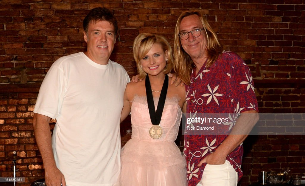 Producer Frank Liddell, Miranda Lambert, and producer Chuck Ainlay attend the 'Automatic' No. 1 party on June 30, 2014 in Nashville, Tennessee.