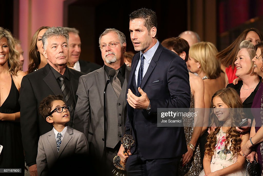 Producer Frank Valentini speaks onstage to accept the Emmy for Outstanding Drama Series: General Hospital at the 2016 Daytime Emmy Awards at Westin Bonaventure Hotel on May 1, 2016 in Los Angeles, California.