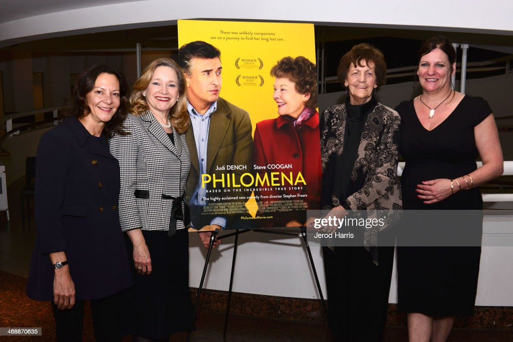 Producer Gabrielle Tana, Director of the Museum of Tolerance Liebe Geft, <a gi-track='captionPersonalityLinkClicked' href=/galleries/search?phrase=Philomena+Lee&family=editorial&specificpeople=11489545 ng-click='$event.stopPropagation()'>Philomena Lee</a> and Jane Libberton attend a special screening of 'Philomena' and conversation with <a gi-track='captionPersonalityLinkClicked' href=/galleries/search?phrase=Philomena+Lee&family=editorial&specificpeople=11489545 ng-click='$event.stopPropagation()'>Philomena Lee</a> at the Museum Of Tolerance on February 11, 2014 in Los Angeles, California.