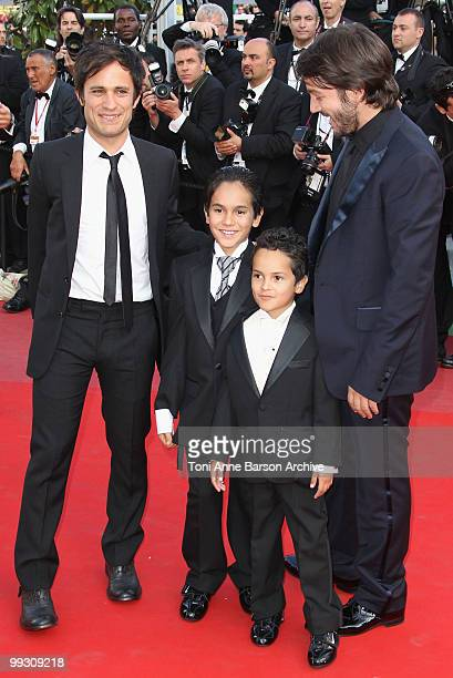 Producer Gael Garcia Bernal Christopher RuizEsparza Gerardo RuizEsparza and director Diego Luna attend the 'Abel' premiere held at the Palais des...