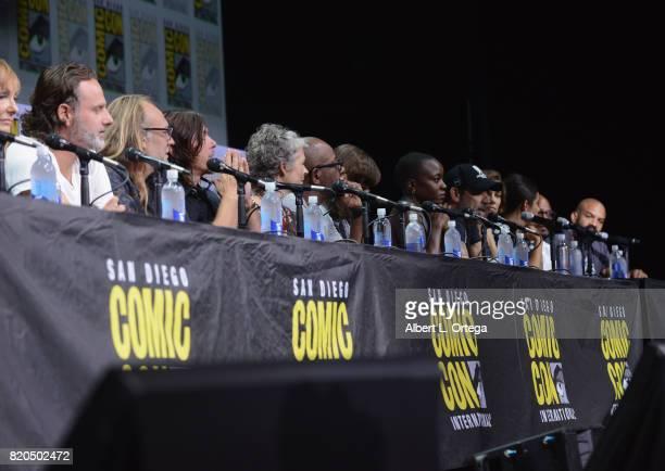 Producer Gale Anne Hurd actor Andrew Lincoln producer Greg Nicotero actors Norman Reedus Melissa McBride Lennie James Chandler Riggs Danai Gurira...