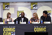 Producer Gale Anne Hurd and actors Colman Domingo Kim Dickens and Cliff Curtis attend AMC's 'Fear The Walking Dead' Panel during ComicCon...
