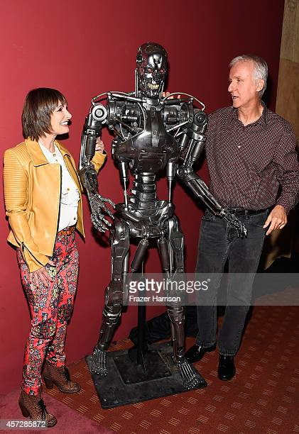 Producer Gale Anne Hurd and directorJames Cameron attend the American Cinematheque 30th Anniversary Screening Of 'The Terminator' at the Egyptian...