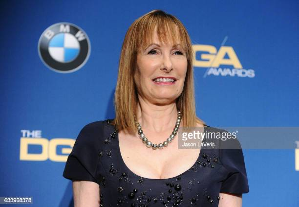 Producer Gale Anne Hurd poses in the press room at the 69th annual Directors Guild of America Awards at The Beverly Hilton Hotel on February 4 2017...