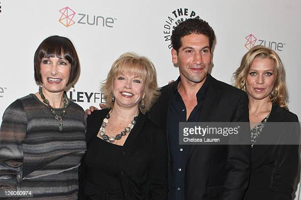 Producer Gale Anne Hurd President and Chief Executive Officer of The Paley Center for Media Pat Mitchell actor Jon Bernthal and actress Laurie Holden...