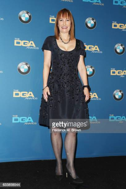 Producer Gale Anne Hurd recipient of the Frank Capra Achievement Award poses in the press room during the 69th Annual Directors Guild of America...