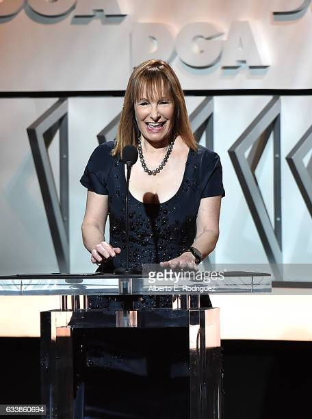 Producer Gale Anne Hurd speaks onstage during the 69th Annual Directors Guild of America Awards at The Beverly Hilton Hotel on February 4 2017 in...