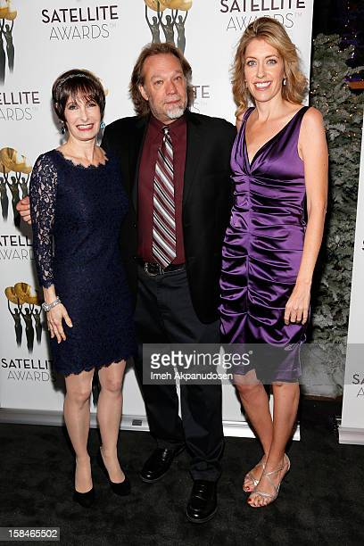 Producer Gale Anne Hurd special effects artist Gregory Nicotero and producer Denise M Huth attend International Press Academy's 17th Annual Satellite...
