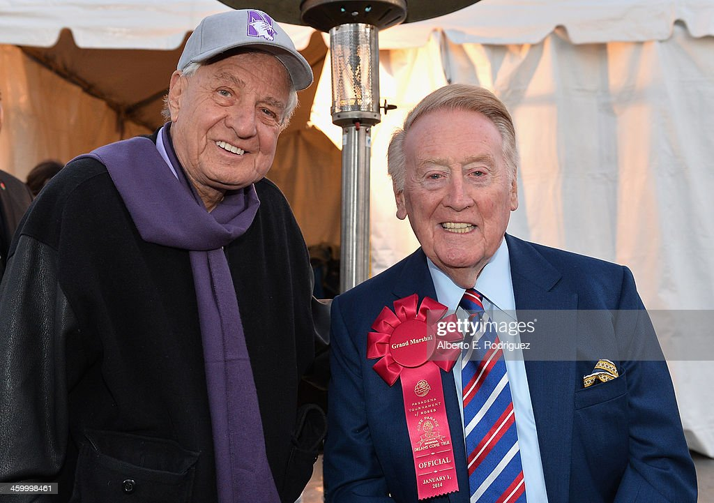 Producer Garry Marshall and Parade Grand Marshal Vin Scully attend the 125th Tournament of Roses Parade Presented by Honda on January 1 2014 in...