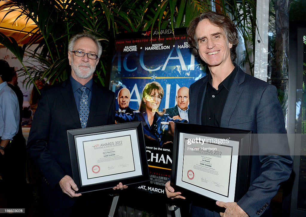 Producer Gary Goetzman (L) and director Jay Roach attend the 13th Annual AFI Awards at Four Seasons Los Angeles at Beverly Hills on January 11, 2013 in Beverly Hills, California.