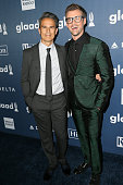 Producer Gary Janetti and television personality Brad Goreski arrive at the 27th Annual GLAAD Media Awards at The Beverly Hilton Hotel on April 2...