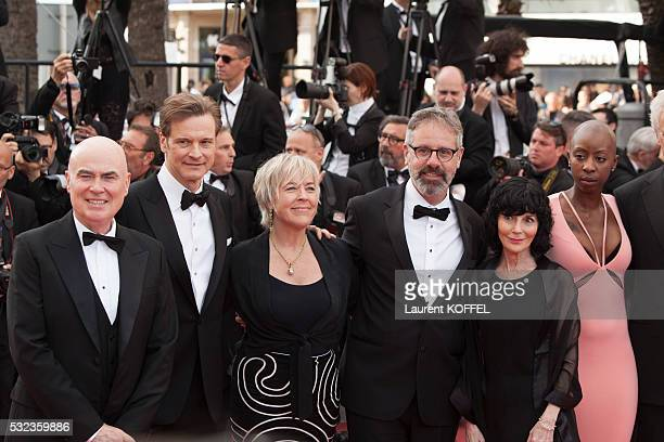 Producer Ged Doherty actor Colin Firth producer Sarah Green producer Peter Saraf producers Nancy Buirski Oge Egbuono attend the 'Loving' red carpet...