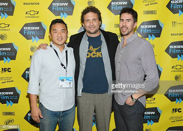 Producer Gene Hong actor/producer Jeremy Sisto and producer Daniel Hammond attend the 'Break Point' premiere during the 2014 SXSW Music Film...
