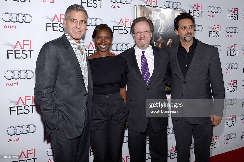 Producer <a gi-track='captionPersonalityLinkClicked' href=/galleries/search?phrase=George+Clooney&family=editorial&specificpeople=202529 ng-click='$event.stopPropagation()'>George Clooney</a>, AFI Fest Director <a gi-track='captionPersonalityLinkClicked' href=/galleries/search?phrase=Jacqueline+Lyanga&family=editorial&specificpeople=2165482 ng-click='$event.stopPropagation()'>Jacqueline Lyanga</a>, AFI President & CEO of American Film Institute <a gi-track='captionPersonalityLinkClicked' href=/galleries/search?phrase=Bob+Gazzale&family=editorial&specificpeople=2353082 ng-click='$event.stopPropagation()'>Bob Gazzale</a> and producer <a gi-track='captionPersonalityLinkClicked' href=/galleries/search?phrase=Grant+Heslov&family=editorial&specificpeople=607201 ng-click='$event.stopPropagation()'>Grant Heslov</a> attends the premiere of The Weinstein Company's 'August: Osage County' during AFI FEST 2013 presented by Audi at TCL Chinese Theatre on November 8, 2013 in Hollywood, California.