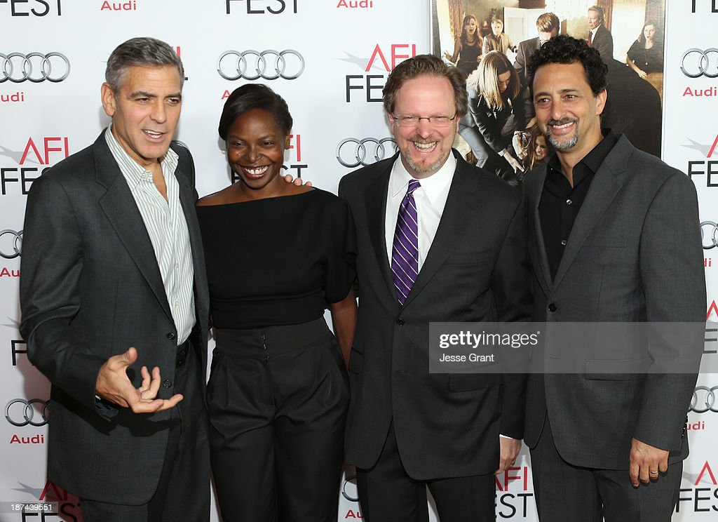 Producer <a gi-track='captionPersonalityLinkClicked' href=/galleries/search?phrase=George+Clooney&family=editorial&specificpeople=202529 ng-click='$event.stopPropagation()'>George Clooney</a>, AFI Fest Director <a gi-track='captionPersonalityLinkClicked' href=/galleries/search?phrase=Jacqueline+Lyanga&family=editorial&specificpeople=2165482 ng-click='$event.stopPropagation()'>Jacqueline Lyanga</a>, AFI President & CEO of American Film Institute <a gi-track='captionPersonalityLinkClicked' href=/galleries/search?phrase=Bob+Gazzale&family=editorial&specificpeople=2353082 ng-click='$event.stopPropagation()'>Bob Gazzale</a> and producer <a gi-track='captionPersonalityLinkClicked' href=/galleries/search?phrase=Grant+Heslov&family=editorial&specificpeople=607201 ng-click='$event.stopPropagation()'>Grant Heslov</a> attend the premiere of The Weinstein Company's 'August: Osage County' during AFI FEST 2013 presented by Audi at TCL Chinese Theatre on November 8, 2013 in Hollywood, California.