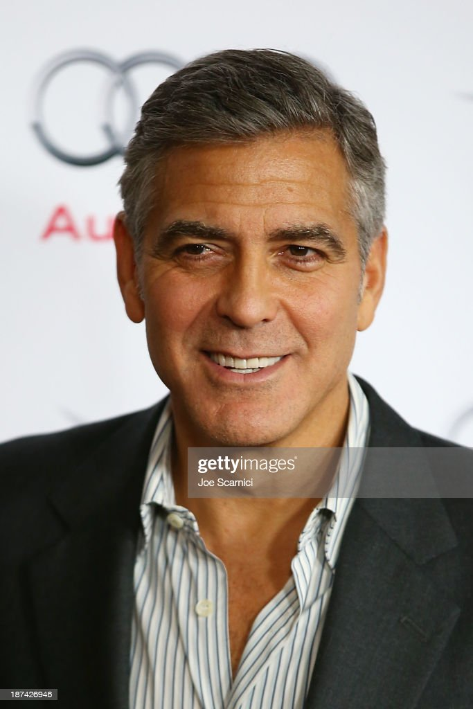 Producer <a gi-track='captionPersonalityLinkClicked' href=/galleries/search?phrase=George+Clooney&family=editorial&specificpeople=202529 ng-click='$event.stopPropagation()'>George Clooney</a> arrives at AFI FEST 2013 Presented By Audi - 'August Osage County' premiere at TCL Chinese Theatre on November 8, 2013 in Hollywood, California.