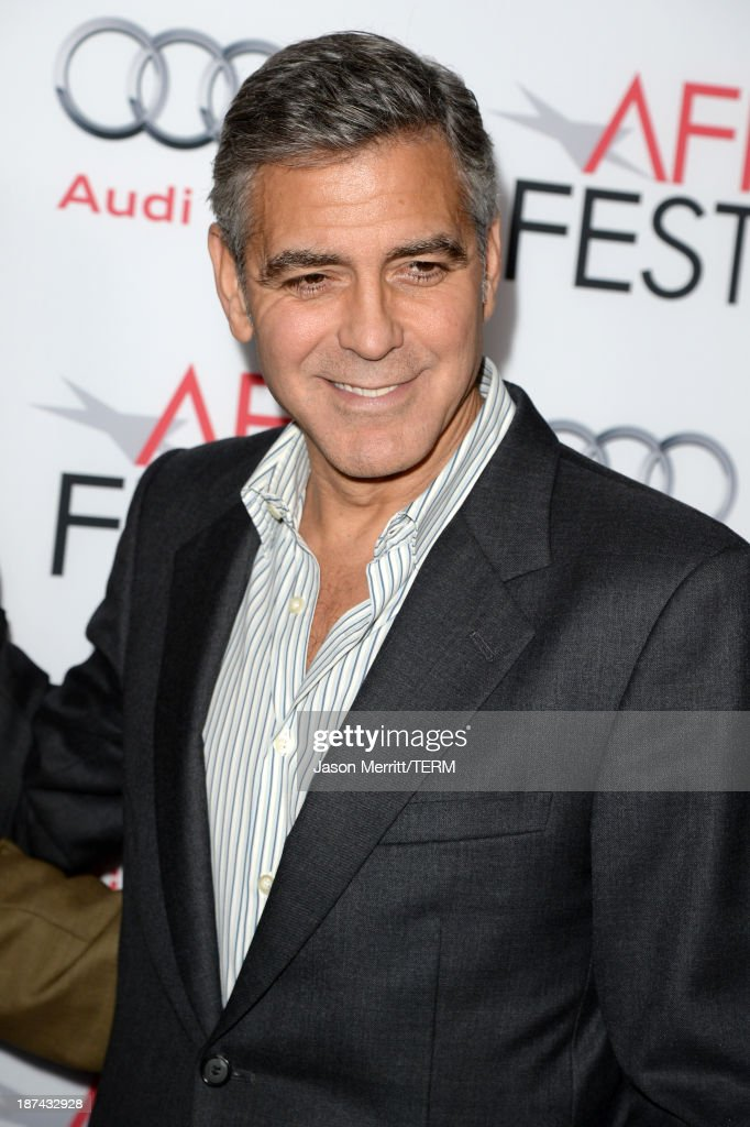 Producer <a gi-track='captionPersonalityLinkClicked' href=/galleries/search?phrase=George+Clooney&family=editorial&specificpeople=202529 ng-click='$event.stopPropagation()'>George Clooney</a> attends the premiere of The Weinstein Company's 'August: Osage County' during AFI FEST 2013 presented by Audi at TCL Chinese Theatre on November 8, 2013 in Hollywood, California.