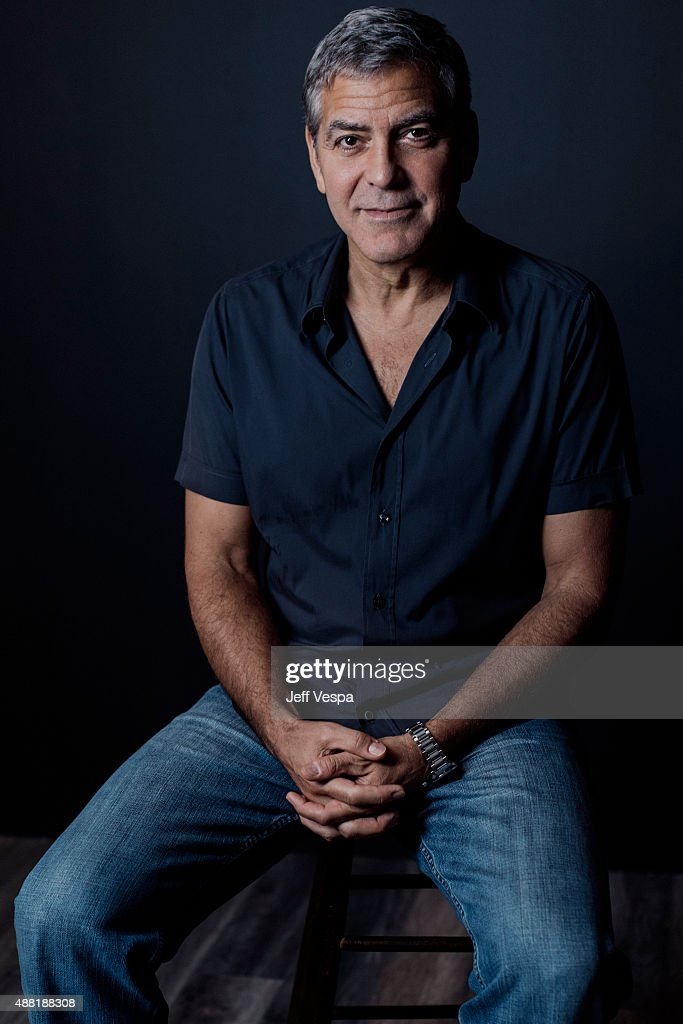 Producer <a gi-track='captionPersonalityLinkClicked' href=/galleries/search?phrase=George+Clooney&family=editorial&specificpeople=202529 ng-click='$event.stopPropagation()'>George Clooney</a> of 'Our Brand Is Crisis' poses for a portrait at the 2015 Toronto Film Festival at the TIFF Bell Lightbox on September 12, 2015 in Toronto, Ontario.