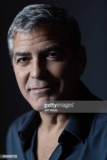 Producer George Clooney of 'Our Brand Is Crisis' poses for a portrait at the 2015 Toronto Film Festival at the TIFF Bell Lightbox on September 15...