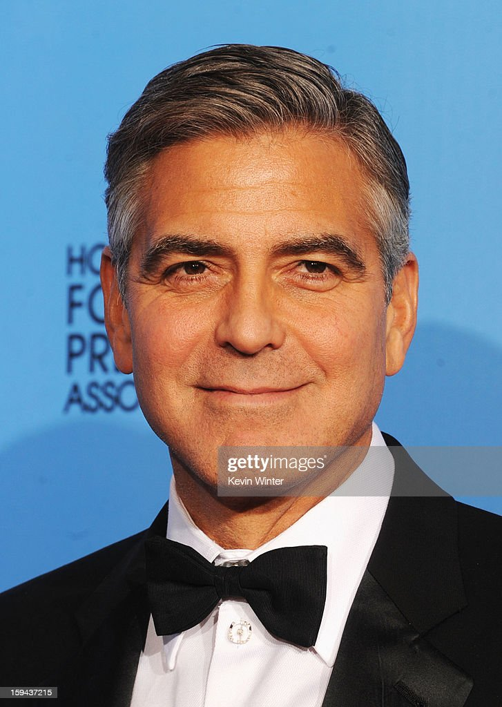 Producer <a gi-track='captionPersonalityLinkClicked' href=/galleries/search?phrase=George+Clooney&family=editorial&specificpeople=202529 ng-click='$event.stopPropagation()'>George Clooney</a>, winner of Best Motion Picture (Drama) for 'Argo,' poses in the press room during the 70th Annual Golden Globe Awards held at The Beverly Hilton Hotel on January 13, 2013 in Beverly Hills, California.