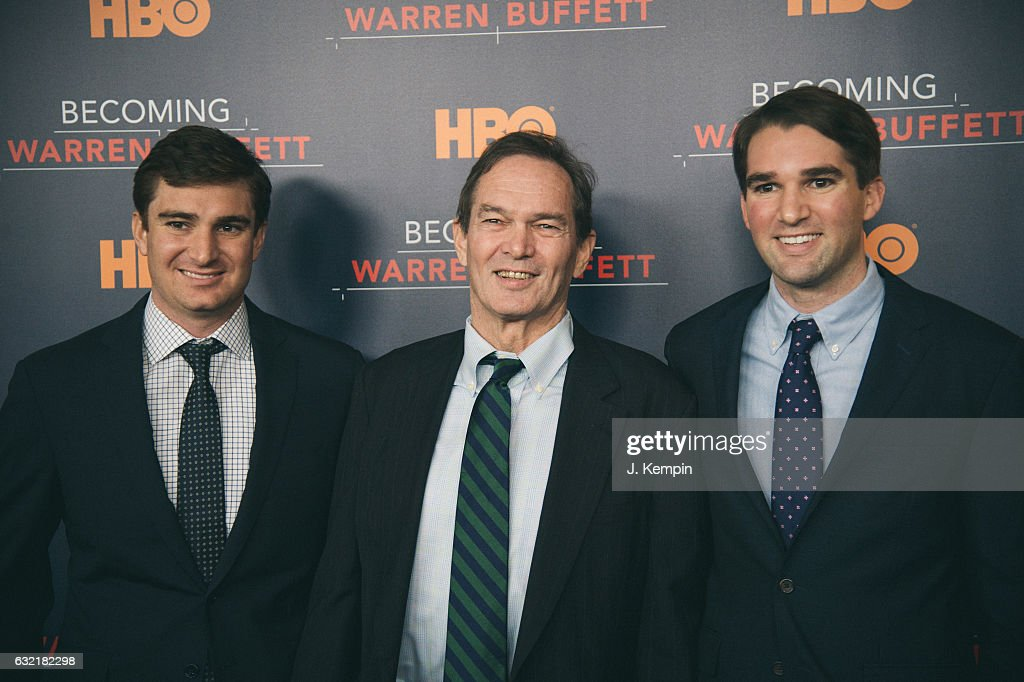 Producer George Kunhardt, director/producer Peter Kunhardt, and producer Teddy Kunhardt attend the 'Becoming Warren Buffett' World Premiere at The Museum of Modern Art on January 19, 2017 in New York City.
