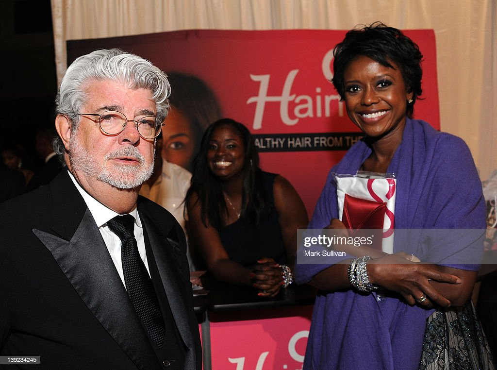 Producer <a gi-track='captionPersonalityLinkClicked' href=/galleries/search?phrase=George+Lucas&family=editorial&specificpeople=202500 ng-click='$event.stopPropagation()'>George Lucas</a> and <a gi-track='captionPersonalityLinkClicked' href=/galleries/search?phrase=Mellody+Hobson&family=editorial&specificpeople=2572145 ng-click='$event.stopPropagation()'>Mellody Hobson</a> in Backstage Creations Celebrity Retreat at 2012 NAACP Image Awards at The Shrine Auditorium on February 17, 2012 in Los Angeles, California.