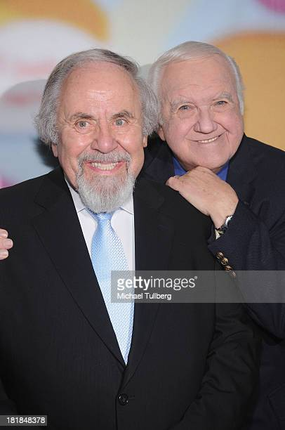 Producer George Schlatter and actor Chuck McCann attend 'Still LaughIn A Toast To George Schlatter' presented by Pepperdine University at Saban...