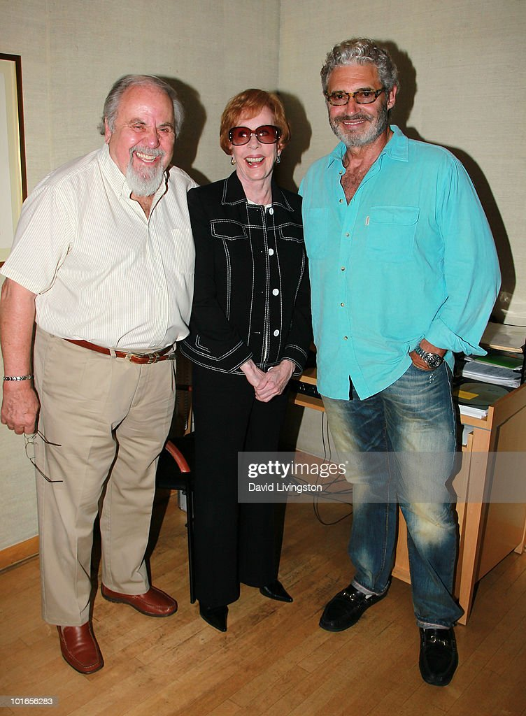 Producer George Schlatter and actors Carol Burnett and Michael Nouri attend Blake Edwards' art exhibit preview at Leslie Sacks Fine Art on June 5, 2010 in Brentwood, California.