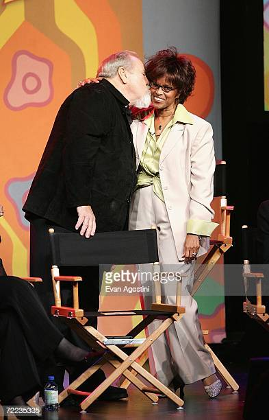 Producer George Schlatter and actress Chelsea Brown attend the 'Laugh In' cast reunion at the Mohegan Sun 10th Anniversary celebration in the Cabaret...