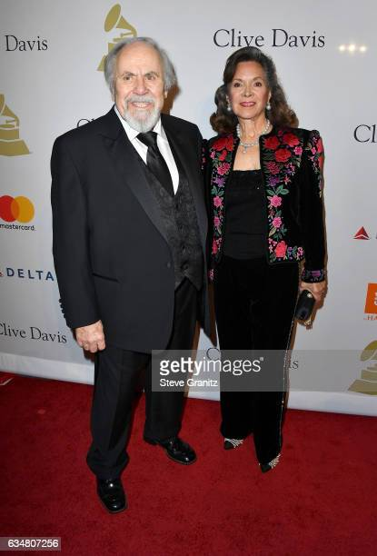 Producer George Schlatter and Jolene Brand attend PreGRAMMY Gala and Salute to Industry Icons Honoring Debra Lee at The Beverly Hilton on February 11...