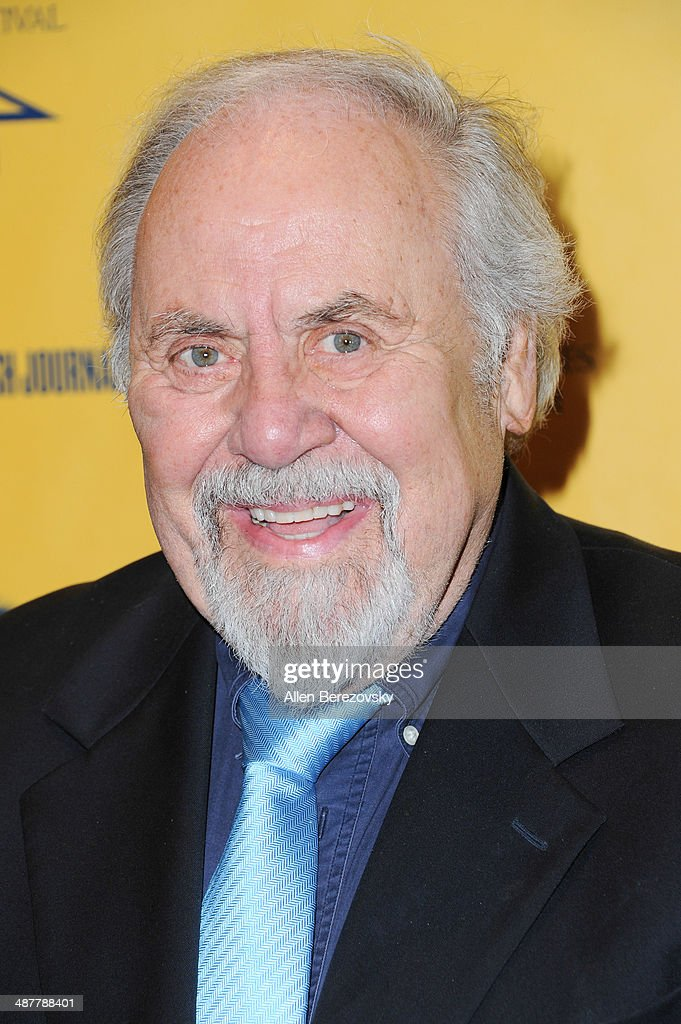 Producer <a gi-track='captionPersonalityLinkClicked' href=/galleries/search?phrase=George+Schlatter&family=editorial&specificpeople=691335 ng-click='$event.stopPropagation()'>George Schlatter</a> arrives at the 9th Annual Los Angeles Jewish Film Festival Opening Night Gala honoring Carl Reiner with tributes at Saban Theatre on May 1, 2014 in Beverly Hills, California.