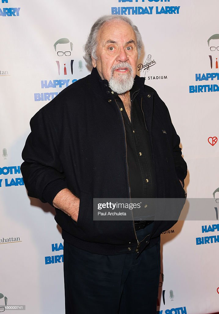 TV Producer <a gi-track='captionPersonalityLinkClicked' href=/galleries/search?phrase=George+Schlatter&family=editorial&specificpeople=691335 ng-click='$event.stopPropagation()'>George Schlatter</a> attends a surprise party for Larry King's 80th Birthday at Dodger Stadium on November 15, 2013 in Los Angeles, California.