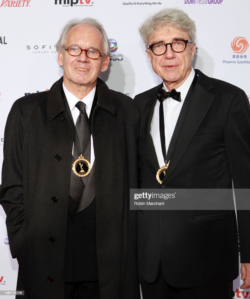 Producer Georges Campana (L) and director Giacomo Battiato attend the 40th International Emmy Awards on November 19, 2012 in New York City.