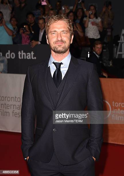 Producer Gerard Butler attends the 'Septembers of Shiraz' premiere during the 2015 Toronto International Film Festival at Roy Thomson Hall on...
