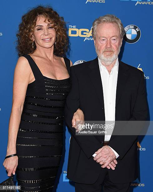 Producer Giannina FacioScott and director Ridley Scott arrive at the 68th Annual Directors Guild of America Awards at the Hyatt Regency Century Plaza...