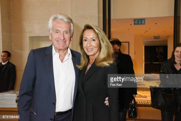 Producer Gilbert Coullier and his wife Nicole Coullier attend 'Dalida Une Garde Robe De la Ville A la Scene' Dresses Exhibition Preview at Musee...