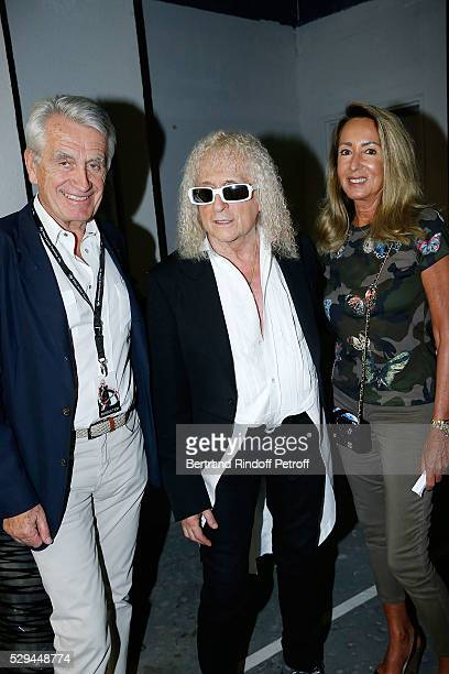Producer Gilbert Coullier Singer Michel Polnareff and Nicole Coullier attend Michel Polnareff New Tour in France at AccorHotels Arena on May 08 2016...