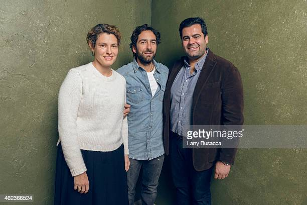 Producer Ginevra Elkann director Lamberto Sanfelice and producer Damiano Ticconi of 'Cloro' pose for a portrait at the Village at the Lift Presented...