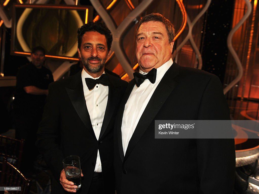Producer Grant Heslov (L) and actor John Goodman attend the 70th Annual Golden Globe Awards Cocktail Party held at The Beverly Hilton Hotel on January 13, 2013 in Beverly Hills, California.