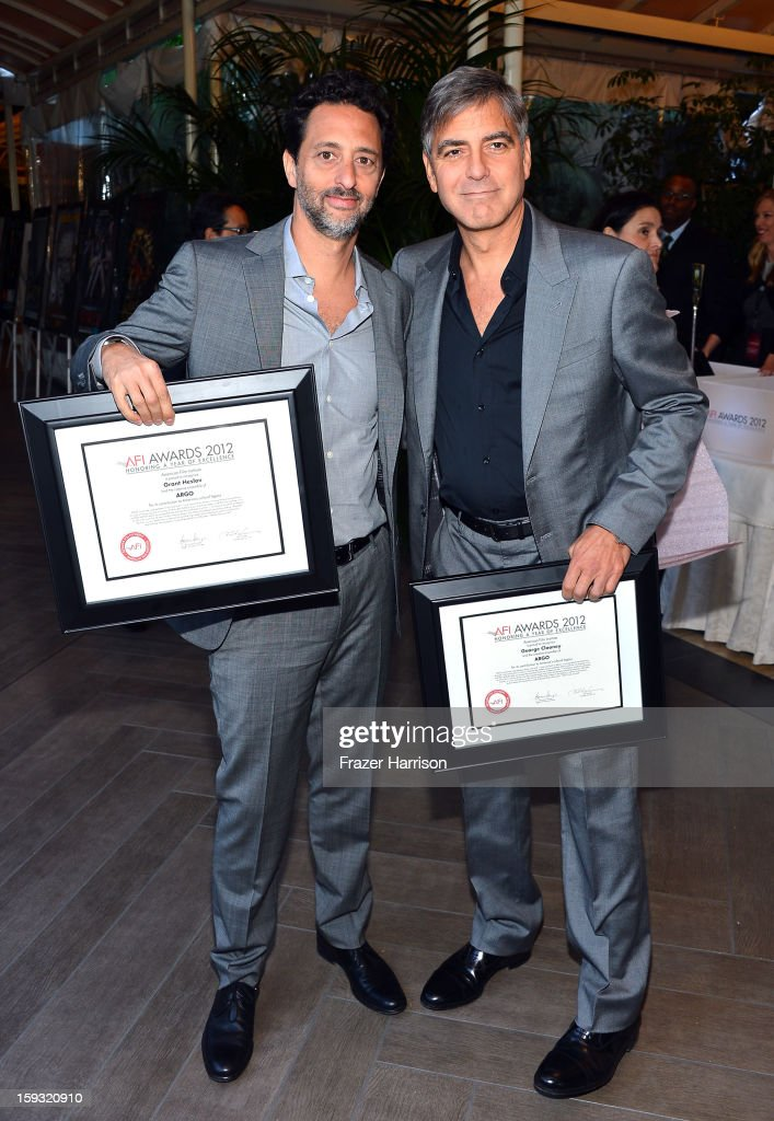 Producer Grant Heslov (L) and actor/director George Clooney attend the 13th Annual AFI Awards at Four Seasons Los Angeles at Beverly Hills on January 11, 2013 in Beverly Hills, California.