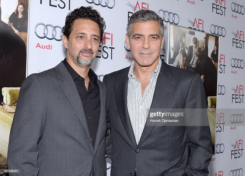 Producer Grant Heslov and actor/producer George Clooney attend the premiere of The Weinstein Company's 'August Osage County' during AFI FEST 2013...