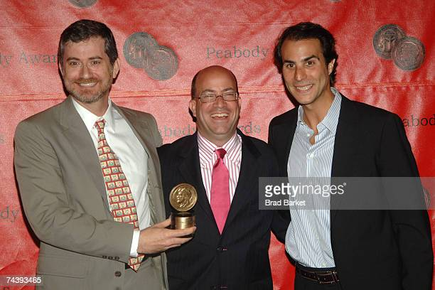 Producer Greg Daniels CEO of NBC Universal Jeff Zucker and cochairman of NBC Entertainment Ben Silverman attend the 66th Annual Peabody Awards at the...